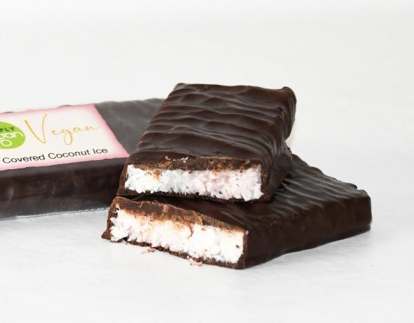 Plain Chocolate Covered Coconut Ice, vegan