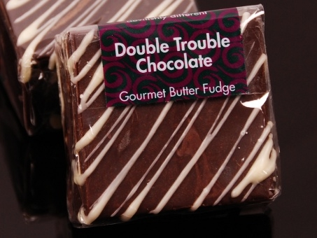 Gourmet Square Fudge Double Trouble Chocolate 85g