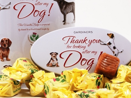 "Vanilla Fudge ""Thank you"" Dog, in der Geschenkdose 250g"