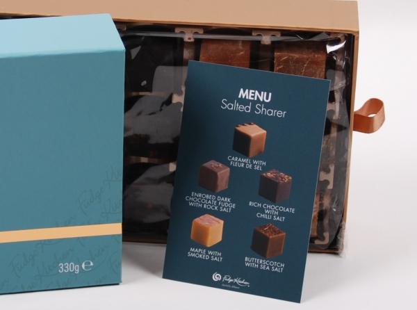 Fudge Kitchen, Geschenkpackung, Salted Sharer, 330g