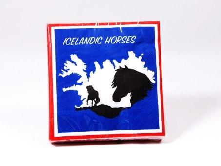 Servietten Motiv ICELANDIC HORSES