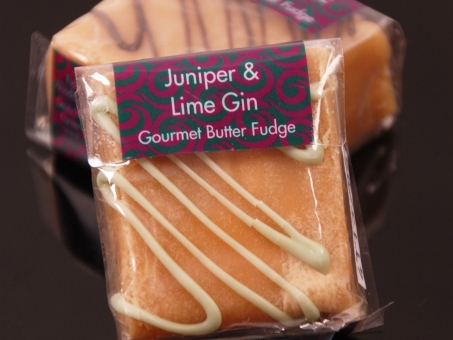 Gourmet Square Fudge Juniper Lime Gin 85g
